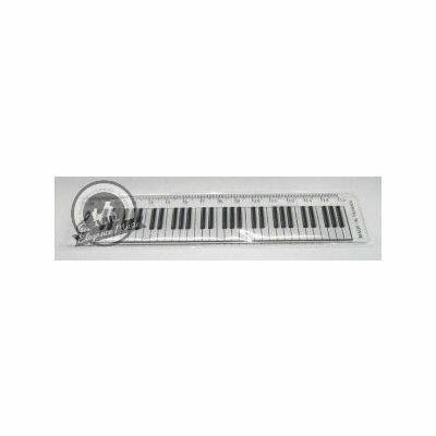 15cm Ruler Keyboard Design Clear