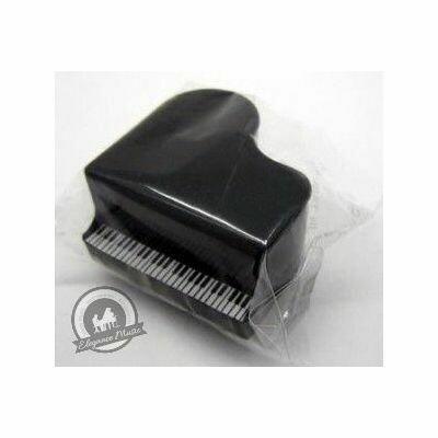 Single Black Piano Shaped Pencil Sharpener