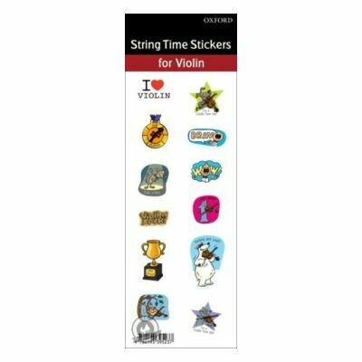 String Time stickers - Violin