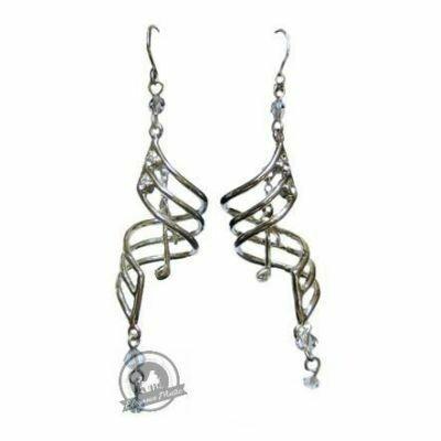 Earrings Silver Note Drops