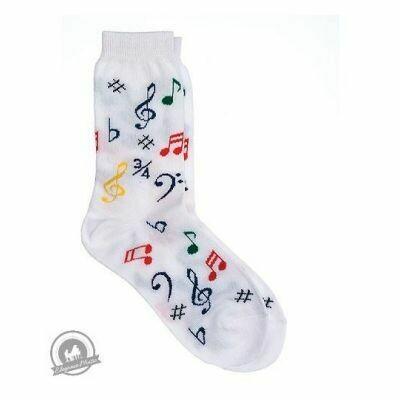 Kids' Socks - Multi Notes (White)