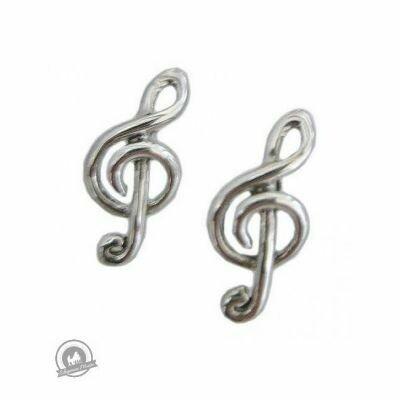 Treble Clef Stud Earrings