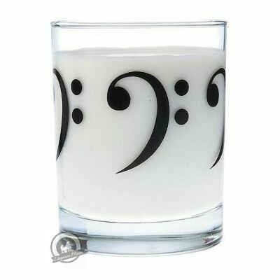 Clear Glass Tumbler: Bass Clef