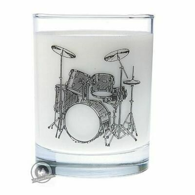 Clear Glass Tumbler: Drum Set