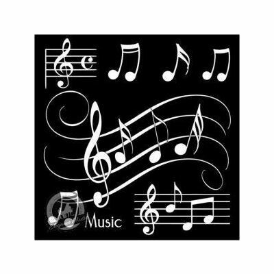 Coasters Musical Notes Black and White - 4 pack