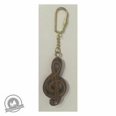 Wooden Keyring - Treble Clef