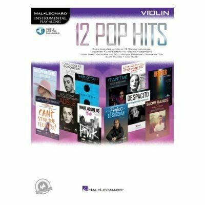 12 Pop Hits - Violin (with Audio-Online)