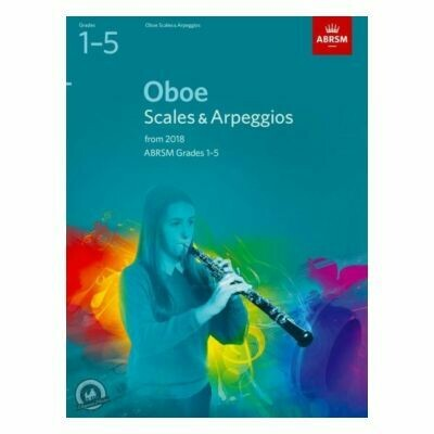 ABRSM Oboe Scales and Arpeggios Grades 1-5 From 2018