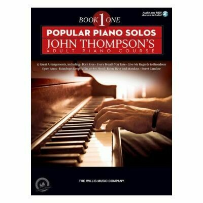 Popular Piano Solos: John Thompson's Adult Piano Course - Book 1 (Book/Online Audio)