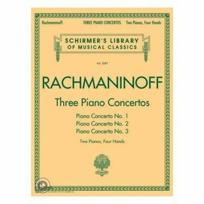 Sergei Rachmaninoff: Three Piano Concertos: Nos. 1, 2, and 3 (2 Pianos, 4 Hands)