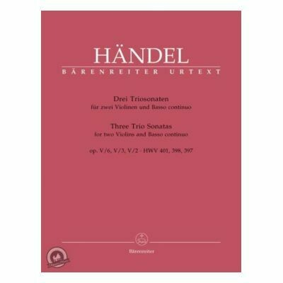 Triosonaten(3) F/E/D for Violin (Set (Score & Parts))