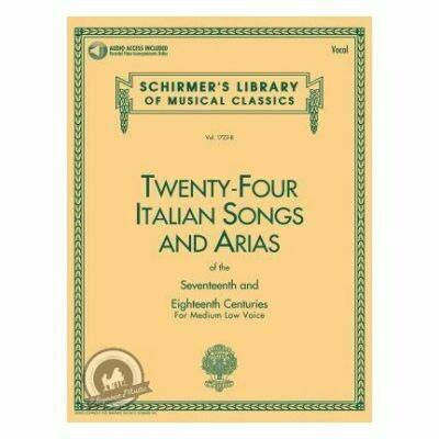 24 Italian Songs & Arias - Medium Low Voice