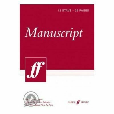 Faber Music Manuscript Paper: 12 Stave - 32 Pages - A4 - White