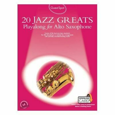 Guest Spot - 20 Jazz Greats Playalong For Alto Sax