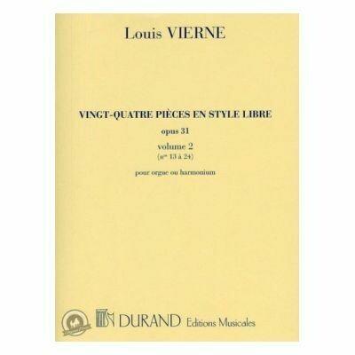Louis Vierne: 24 Pieces En Style Libre - Livre 2