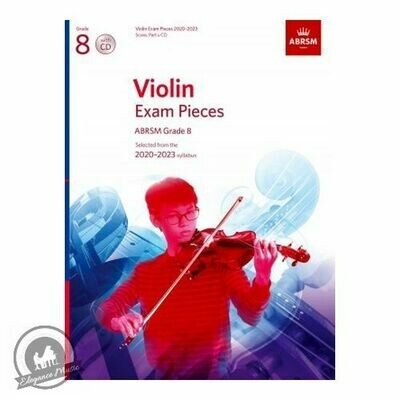 ABRSM Violin Exam Pieces 2020-2023 Grade 8 (Book with 3CD)