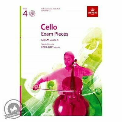 ABRSM Cello Exam Pieces 2020-2023 Grade 4 (Book with CD)