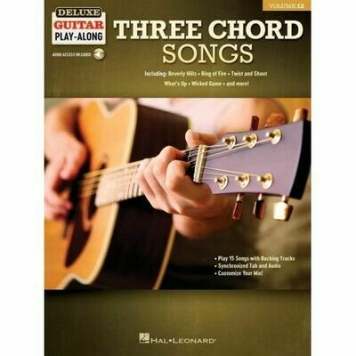 Three Chord Songs  Deluxe Guitar Play-Along Volume 12