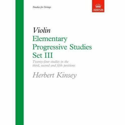 Herbert Kinsey: Elementary Progressive Studies, Set III