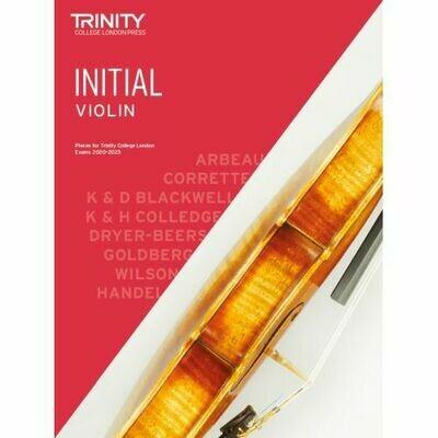 Trinity College London Violin Initial Grade (2020-2023) Violin & Piano Part