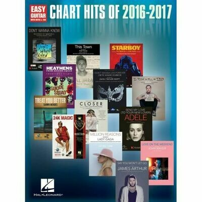 Chart Hits of 2016-2017 (Easy Guitar)