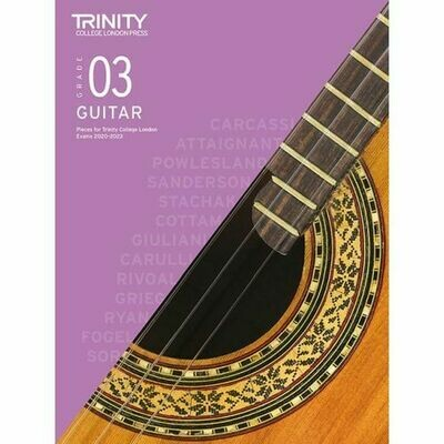 Trinity Classical Guitar Exam Pieces Grade 3 2020-2023