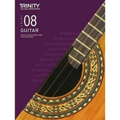 Trinity Classical Guitar Exam Pieces Grade 8 2020-2023