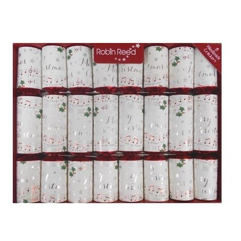 White Christmas Crackers Box of 8