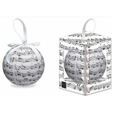 Christmas Tree Bauble : Bach musical notes