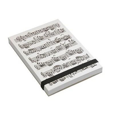 Note pad A7 - Musical 'notenblatt' Notes