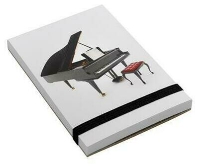 Note pad A7 - Grand Piano