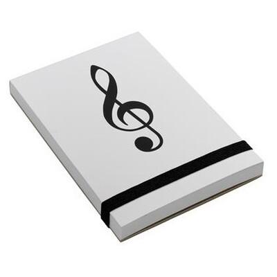 Note pad A7 - Treble Clef