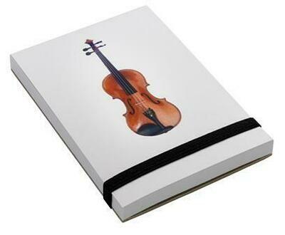 Note pad A7 - Violin