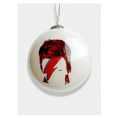 Glass Christmas Tree Bauble : David Bowie