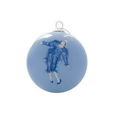 Glass Christmas Tree Bauble : David Bowie Clown