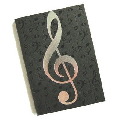 A6 Journal Black with Silver Notes