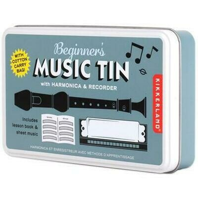 Beginner's Music Tin - Recorder and Harmonica
