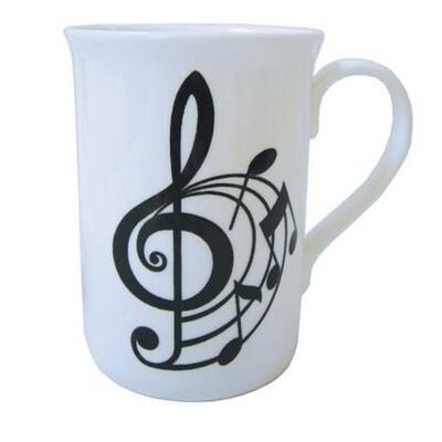 Spiral Treble Clef Mug