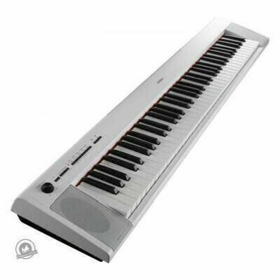 Yamaha NP-32 Piaggero Slimline Home Keyboard (In White Finish)