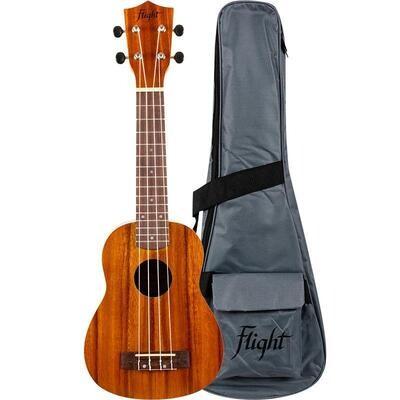 Flight: NUS250 Soprano Ukulele - Acacia (With Bag)
