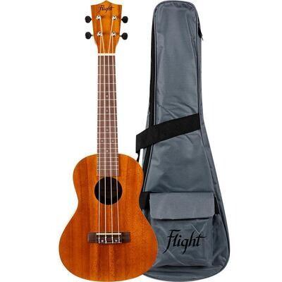 Flight: NUC250 Concert Ukulele - Acacia (With Bag)