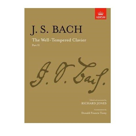 J.S. Bach - The Well Tempered Clavier Part II (Edited by Richard Jones)