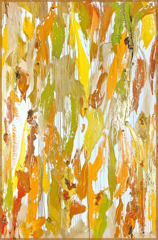 """""""notes of cumin + pressed green olives + saffron with a marbled melange of meyer lemon + ginger + honey gold"""""""