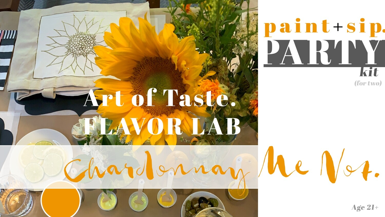 CHARDONNAY   paint + sip party kits