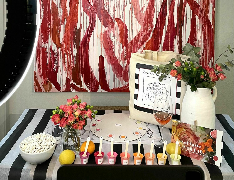 ROSE | VIRTUAL paint + sip party kit (individually packed kits)