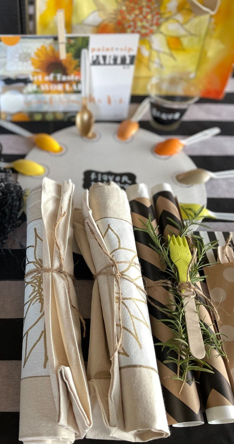 CHARDONNAY | DIY paint + sip party kit (packed for two)