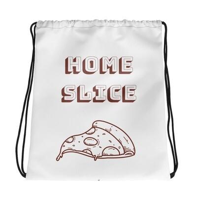 Home Slice Drawstring bag