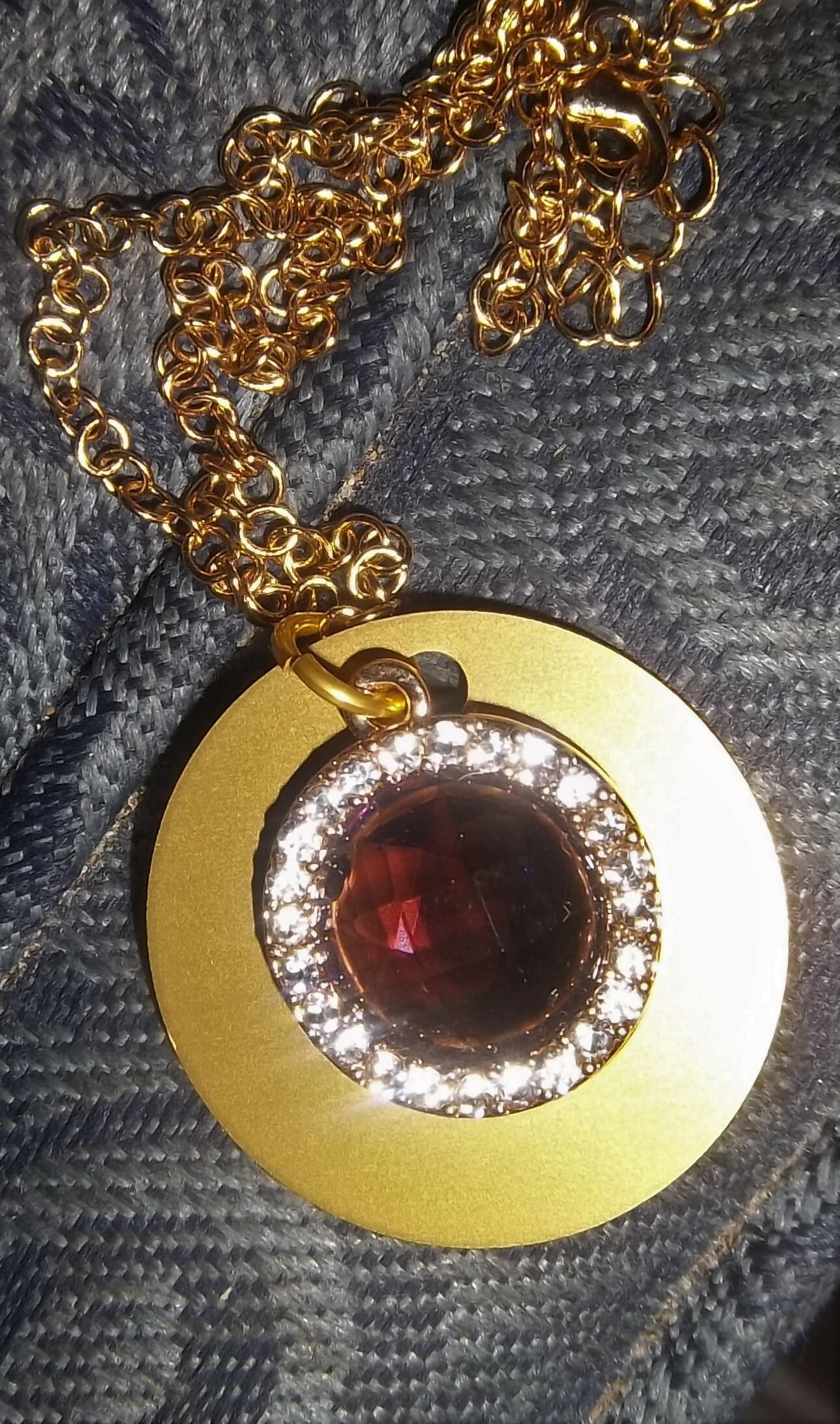 Purple Crystal & Rhinestones Necklace 00019