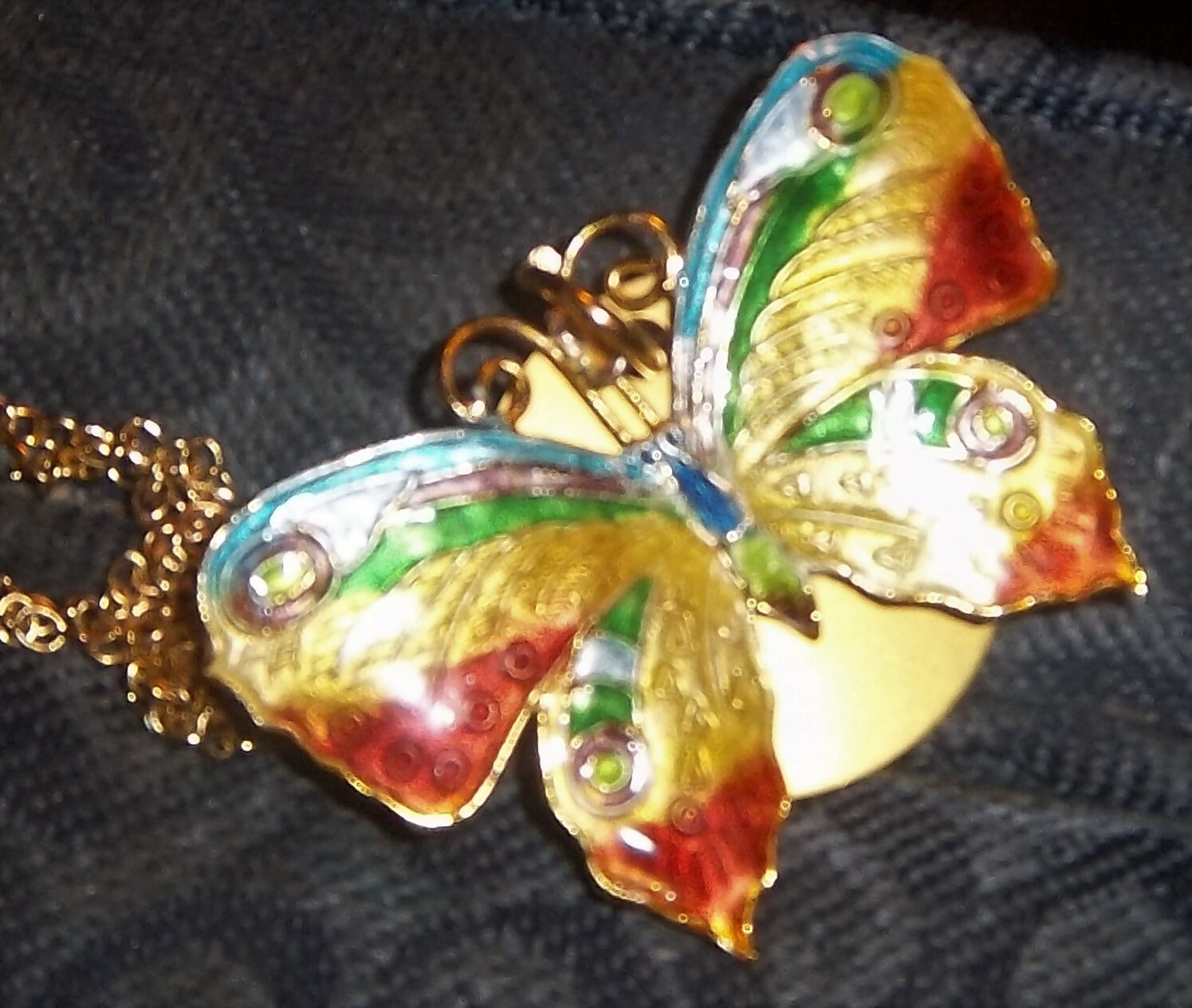 Rainbow Butterfly Necklace 00021
