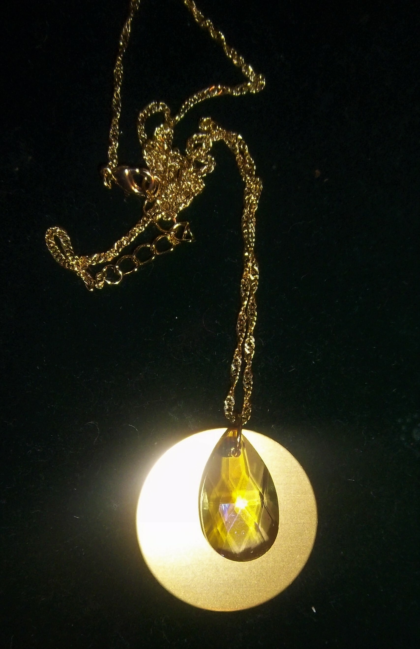 Aurora Crystal With Auric Disk Necklace